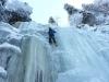 Eisklettern - Giggi im Vorstieg
