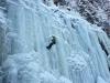 Eisklettern - ich in der Eiswand